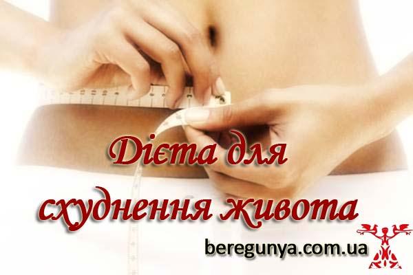 диета для схуднення в животі і боках