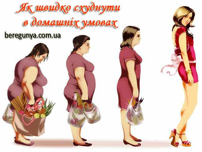 Як швидко схуднути в домашніх умовах