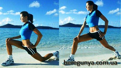 вправи для схуднення в стегнах