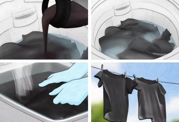 Как из черного белья сделать белое